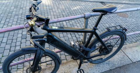 E-bike op slot